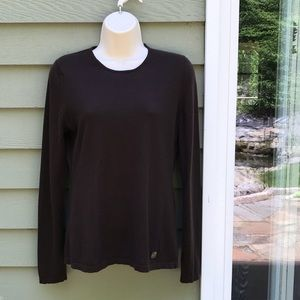 Anne Klein Brown Cashmere Sweater Sz M